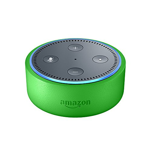 Echo Dot Kids Edition, a smart speaker with Alexa for kids - green case