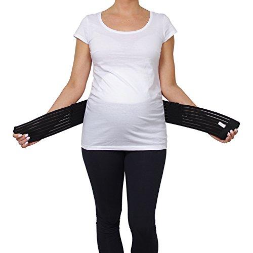 Cintura Gravidanza Ginnastica Nero per Nero Yoga Sport Belly 3200 con Beige Donna Velcro Supporto Cintura Regolabile Rosa Band per Addominale Gravidanza Herzmutter FdwqPF