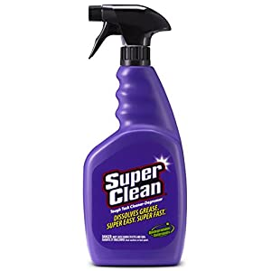 SuperClean Multi-Surface All Purpose Cleaner Degreaser Spray, Biodegradable, Full Concentrate, Scent free, 32 ounce