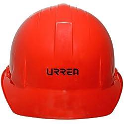 Urrea Herramientas USH01R Casco de Seguridad con Ajuste de Matraca, color Rojo