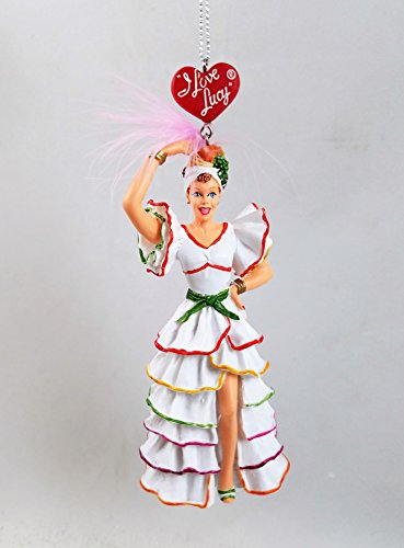 Miranda Costumes (Kurt Adler I Love Lucy Rumba Ornament Lucille Ball with Feather Accent)