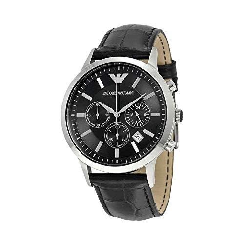 Emporio Armani Men's AR2447 Dress Black Leather Watch from Emporio Armani