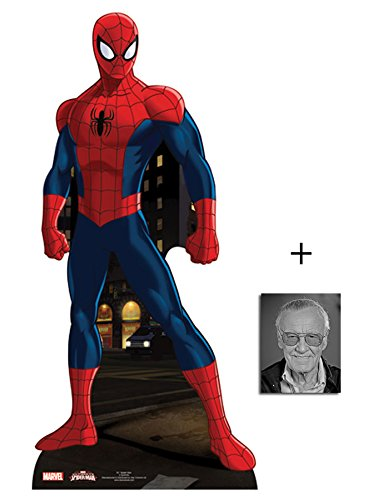 Fan Pack - Spider-Man Lifesize Cardboard Cutout / Standee / Standup - Marvel Super Hero - Includes 8x10 Star Photo