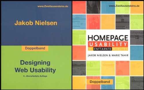 Doppelband: Designing Web Usability/Homepage Usability Broschiert – 1. Januar 2002 Jakob Nielsen Marie Tahir Zweitausendeins 3861504669