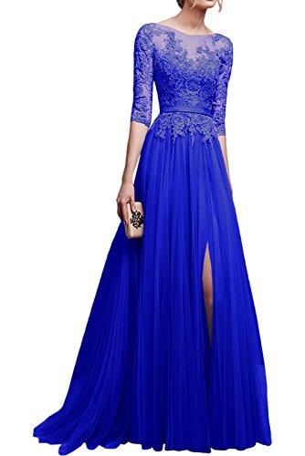 Abschlussballkleider Spitze 2017 Abendkleider mit Neu Rosa Lang Marie Royal Dunkel Blau Langarm Ballkleider Braut La E4wxPq0z0