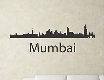 Amazoncom Mumbai India City Skyline Vinyl Wall Art Decal Sticker - Wall decals mumbai