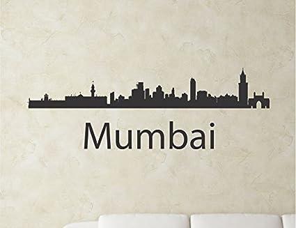 Mumbai India city skyline Vinyl Wall Art Decal Sticker  sc 1 st  Amazon.com & Amazon.com: Mumbai India city skyline Vinyl Wall Art Decal Sticker ...