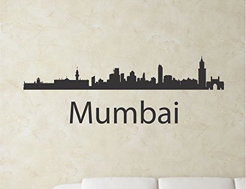 Mumbai India city skyline Vinyl Wall Art Decal Sticker