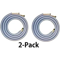 "Line Set 9000 (2-Pack) BTU Mini Split Air Conditioner (1/4"" X 3/8) - All Copper (16 Ft) with Insulation - Flared Fittings/Quick Connect"