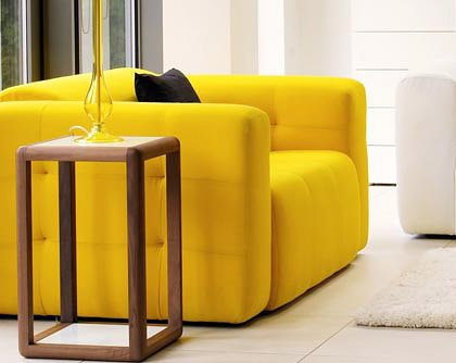 Calia Maddalena–Sofa Design Compact, Leder terra 3 Sitze Pelle Terra Palude