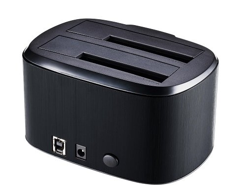 Connectland dock-cnl-gdpd05t-black PC USB 3.0/ Docking Station per 2/ dischi rigidi SATA 3.5/ //2.5/ Nero