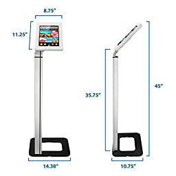 Mount-It! MI-3780 Tablet Stand for POS and Kiosk Use, Floorstanding, Anti-Theft, Anti-Tamper, Ground Standing, Locking, Tilting iPad Tablet Mount for Apple iPad 2, 3, 4, Air and Samsung Sizes 10.1 In