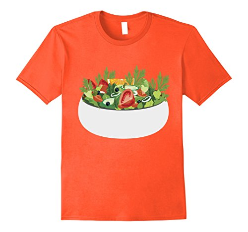 Mens Salad T-Shirt Matching Couples Halloween Costume XL Orange