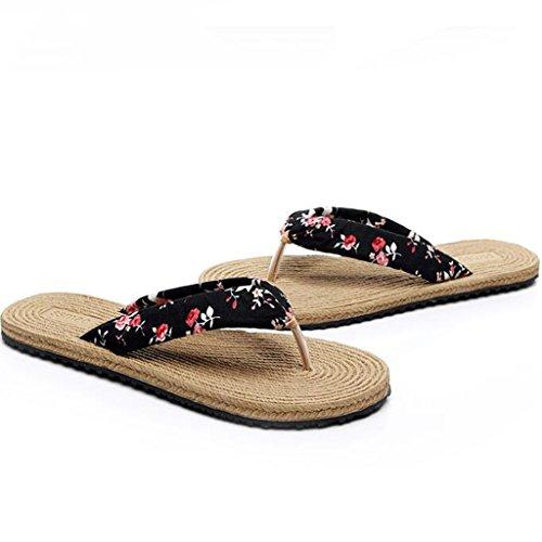 Toe Plates Sandales Clip Chaussons Mode Antidérapante Caoutchouc Semelle Chaussures en 4 Été Mme wxYqwZTI