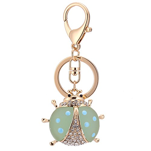 Creative Coccinella Septempunctata Keychain Car Key Bag Pendant Colorful Key chain ()