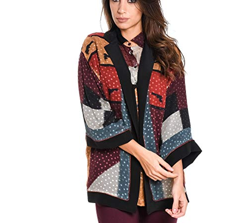 ETRO Women's 142064685650 Multicolor Silk Poncho - Etro Womens Clothing