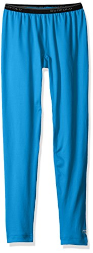 (Duofold Girls' Big' Mid Weight Varitherm Thermal Legging, Underwater Blue, S)