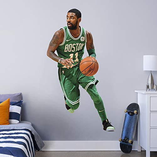 FATHEAD NBA Boston Celtics Kyrie Irving Kyrie Irving- Officially Licensed Removable Wall Decal, Multicolor, Life-Size