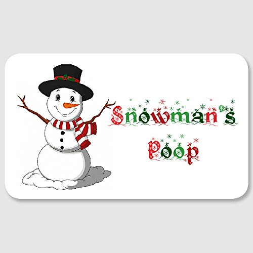 Snowmans Poop Labels Stickers For Funny Christmas Kids Activity And
