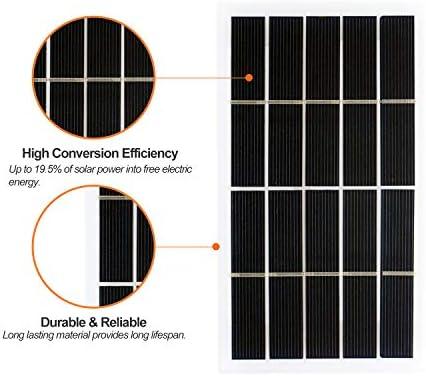Hylotele 2W 5V Kleines Solarpanel Polykristalline Silizium-Solarzelle DIY Wasserdichtes Camping Portable Power Solarpanel Kompatibel für Straßenlaternen Gartenlampenlüfterpumpe Polykristallines Siliz