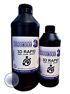 Monocure 3D Rapid Resin for Low Power UV 3D printers by Monocure 3D