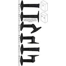 Six (6) New Universal Wall / Ceiling Speaker Mount Brackets for Satellite Speakers (Black)