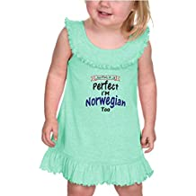 Not Only I'm Perfect I'm Norwegian Too #2 Tank Ruffle Neck Dress