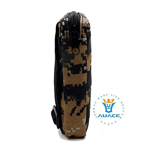 15x 15cm Ultra-Multifunktions Survival Gear Tactical Beutel MOLLE-Tasche, Outdoor Camping Tragbare Travel Bags Handtaschen Werkzeug Taschen Taille Tasche Handytasche DC