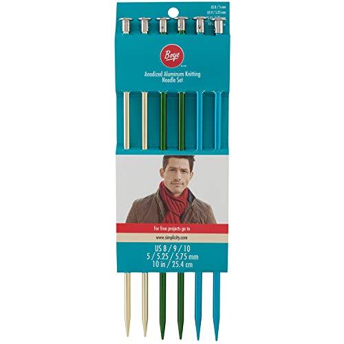 Boye Anodized Aluminum Knitting Needle Set ()