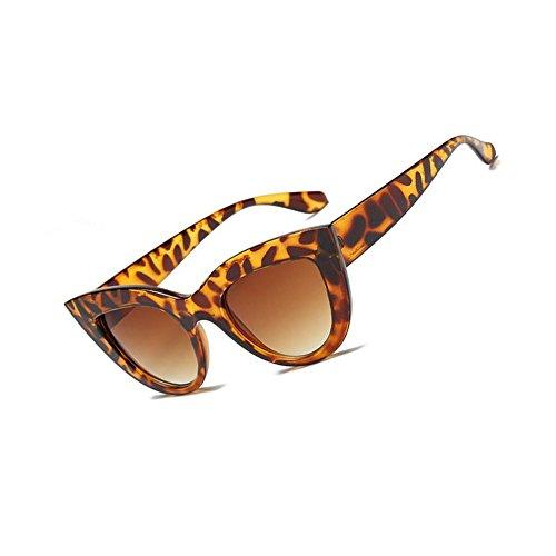 Vintage femmes couleur Eye lunettes Femmes WLHW lunettes Cat teinté tendance de bleu forme Hommes de soleil