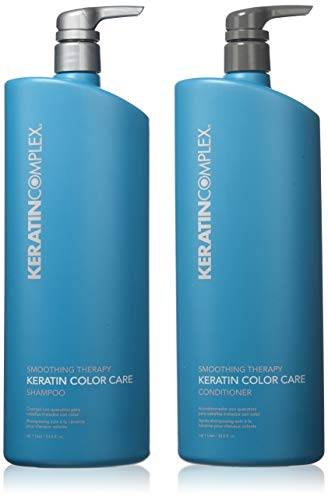 Keratin Complex Color Care Shampoo n Conditioner 33.8 Ounces - Shampoo Smoothing Therapy