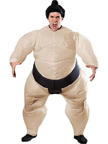 (Rubie's Costume Inflatable Sumo Costume with Battery Operated Fan, One)