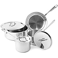All-Clad Tri-Ply Stainless Steel 7 Pc. Cookware Set