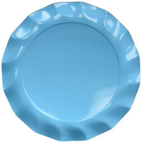 - Sophistiplate Blue Green Turquoise Paper Charger Plates - 15pk for Holidays, Parties, Showers, & Special Entertaining! Made in Italy