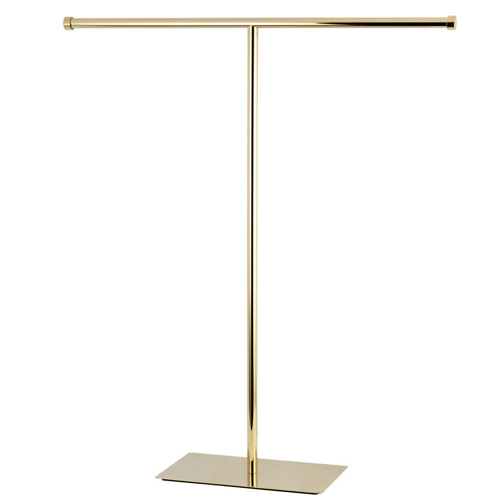 Kingston Brass Claremont T-Shape Towel Rack, Polished Brass
