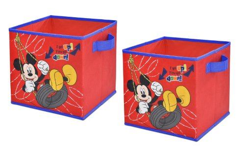 Disney Mickey Mouse Storage Cubes, Set of 2, - Cube Organizer Trunk
