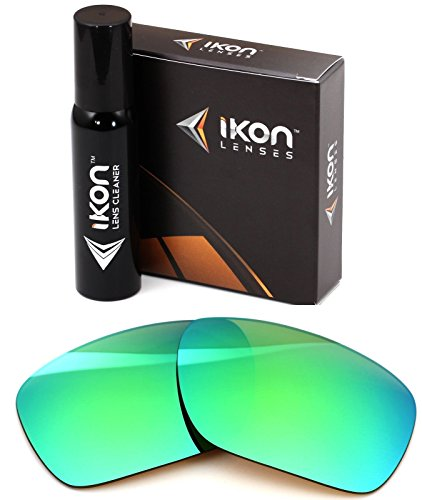 Polarized Ikon Iridium Replacement Lenses for Costa Del Mar Blackfin Sunglasses - Emerald Green ()