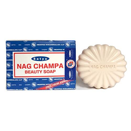 - Satya Nag Champa Natural Soap Regular, Bar Sai Baba, 75g, 2.5 oz