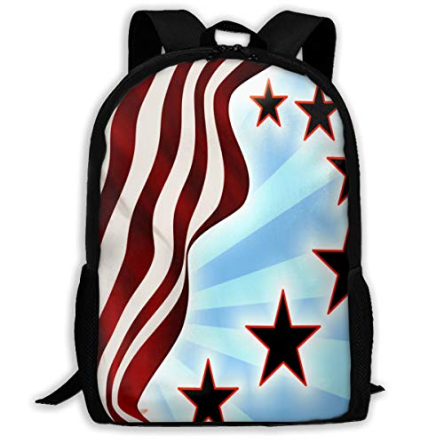 (UYILP USA Flag Adult Premium Travel Backpack, Water-Resistant College School Bookbag, Sport Daypack, Outdoor Rucksack, Laptop Bag for)