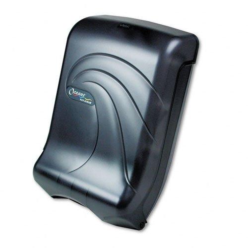 San Jamar T1790TBK Ultrafold Multifold/C-Fold Towel Dispenser, Oceans, Black, 11 3/4 x 6 1/4 x 18