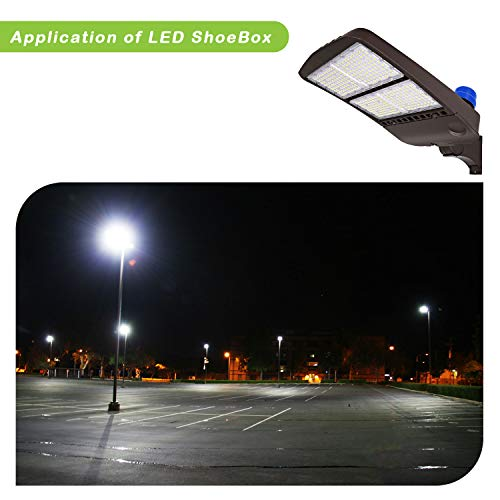 Hykolity 300W LED Parking Lot Light with Photocell,39000lm 5000K Waterproof LED Shoebox Fixture, Outdoor Pole Mount Light for Large Area Lighting [1000w Equivalent] Arm Mount DLC Complied by hykolity (Image #8)