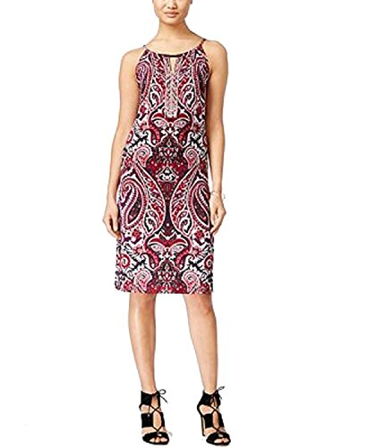 INC International Concepts Petite Embellished Keyhole Sheath Dress (Finest Paisley, Petite/P X-Small)