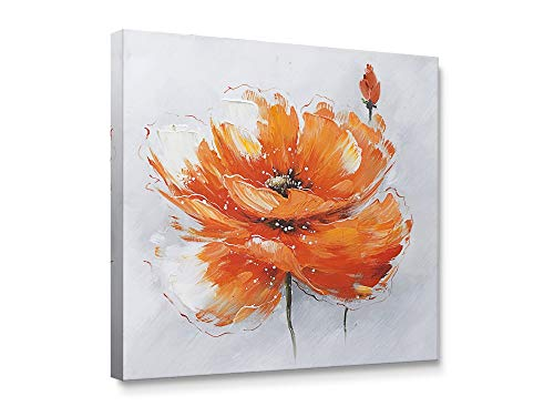 Niwo Art - Orange Poppies, Flower Canvas Wall Art Home Decor,Framed Ready to Hang