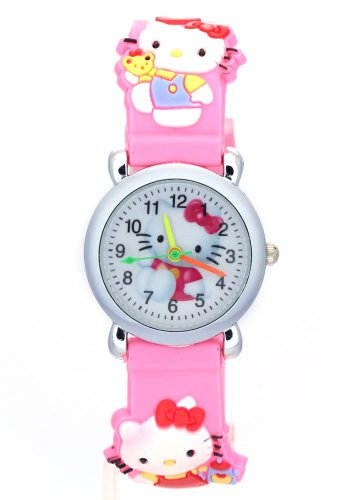 TimerMall OEM Children's Hello Kitty pink Strap Quartz Watches