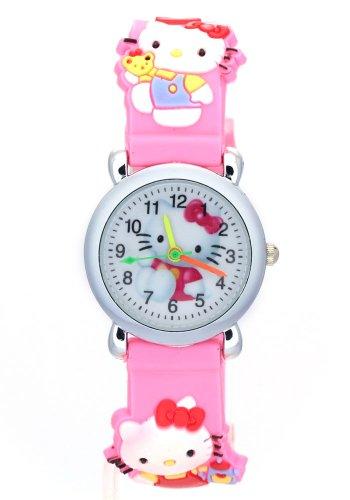 - TimerMall OEM Children's Hello Kitty Pink Strap Quartz Watches