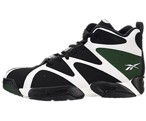 Reebok Kamikaze I Mid Basketball Shoes - White/Black/Green (Mens)