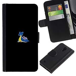 LECELL--Cuero de la tarjeta la carpeta del tirón Smartphone Slots Protección Holder For Samsung Galaxy S4 IV I9500 -- Meter Caracol Monster --