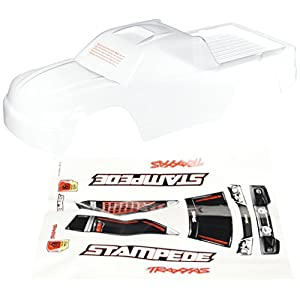 Traxxas 3617 Clear Stampede Body with Decal Sheet