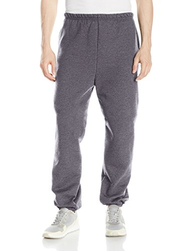 Hanes Men's Ultimate Cotton Fleece Pant,Charcoal Heather,X Large