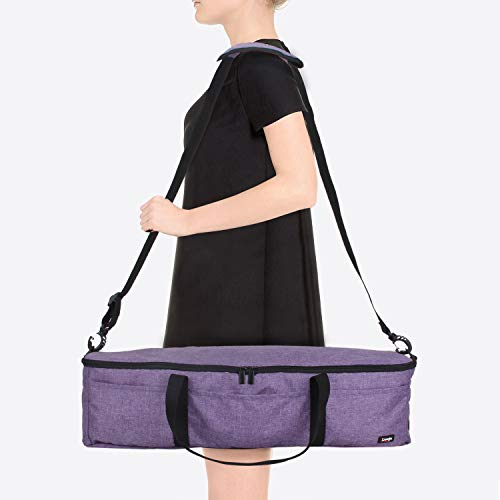 Luxja Foldable Bag Compatible with Cricut Explore Air and Maker, Carrying Bag Compatible with Cricut Explore Air and Supplies (Bag Only), Purple by LUXJA (Image #7)